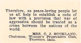 Therefore, as peace-loving people let us all help to establish a code of law with a provision that...