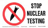 Stop Nuclear Testing
