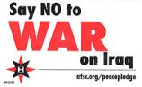 Say NO to WAR on Iraq; afsc.org/peacepledge