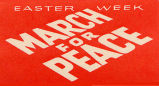 Easter Week. March for peace.