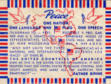 Peace.  One Nation One Language One Flag One Speech.