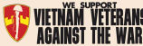 We Support Vietnam Veterans Against the War.