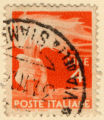 Poste Italiana; 4 Lire; 1st Pol Stato Roma; _____ [word on bottom right illegible]