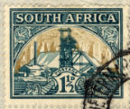 South Africa; Postage 1 1/2 D.