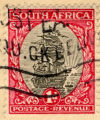 South Africa; Postage Revenue; 1 d.
