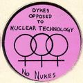 Dykes Opposed to Nuclear Technology; No Nukes