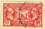 Postes France; Legion Americaine Septembre 1927; 90 c.