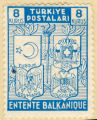 Turkiye Postalari. 8 Kurus. Entente Balkanique. Turquie. Grece. Roumanie. Yougoslavie.