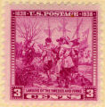 U.S. Postage. Landing of the Swedes and Finns. 1638 1938. 3 cents.