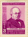 Republica Dominicana. May 1840 1940. Correos 3 cts. Rowland Hill. Primer Centenario del Sello de...