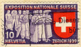 Exposition Nationale Suisse. 10 Helvetia. Zurich 1939.