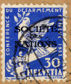 Conference du Desarmament. Geneve. 1932. 30 Helvetia. Societe des Nations. M. Barraud. B. Matter.