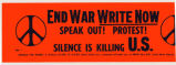 End War Write Now. Speak Out! Protest! Silence is killing U.S.