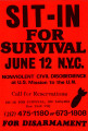 Sit-In For Survival. June 12 N.Y.C. Nonviolent Civil Disobedience at U.S. Mission to the U.N.