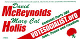 David McReynolds. Mary Cal Hollis. Socialist Party USA. votesocialist.org. Jobs, Peace and Freedom