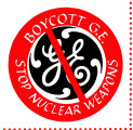 Boycott G.E. Stop Nuclear Weapons.
