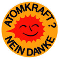 Atomkraft? Nein Danke. (In German: Nuclear power? No thank you.)
