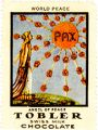 World Peace; PAX; Angel of Peace; Tobler Swiss Milk Chocolate