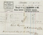 1872 January 1, Philadelphia, to Jonathan Evans, Receipt
