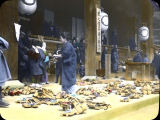 Huge Mass of 'Geta' (Japanese Wooden Shoes) Left By the People Assembled in the Temple, A