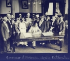 Governor of Nebraska siging Ratification