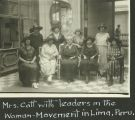 Mrs. Catt with leaders in the Woman-Movement