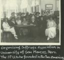 Organizing Suffrage Association in University of San Marcos