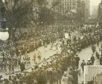 Suffrage Parade Passing Madison Square
