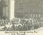 Spectators for Suffrage Parade