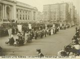 Women with Babies in Suffrage Parade
